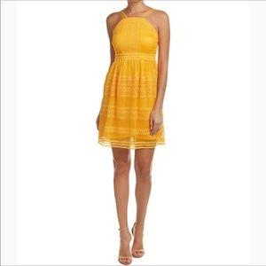 "TAHARI ""On My Mind"" Honey Yellow Dress Size 2"